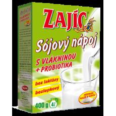 Sojový nápoj Zajíc s vlákninou a probiotiky