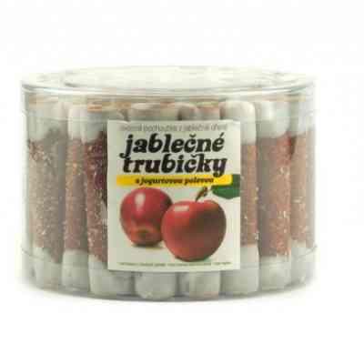 Jablečné trubičky s jogurtovou polevou