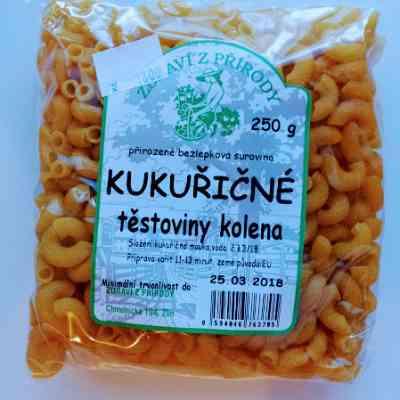 Kukuřičné těstoviny kolínka