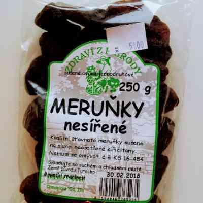 Meruňky natural nesířené