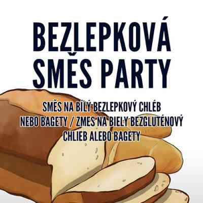 Směs na chléb PARTY na BÍLÝ CHLÉB nebo BAGETY