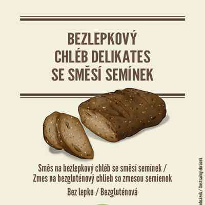 Směs na chléb DELIKATES se SMĚSÍ SEMÍNEK