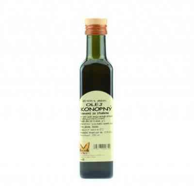 Olej konopný 250ml Natural - za studena lisovaný