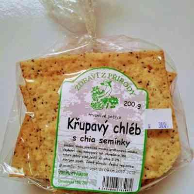 Křupavý chléb s chia semínky