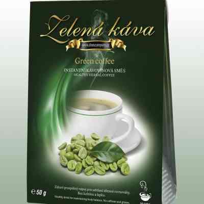 Zelená káva - instantní kávovinová směs