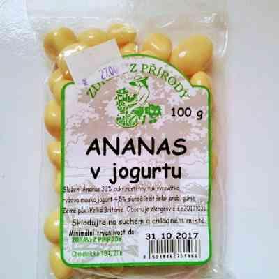 Ananas v jogurtu