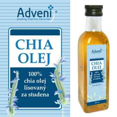 CHIA OLEJ, 100% chia olej lisovaný za studena