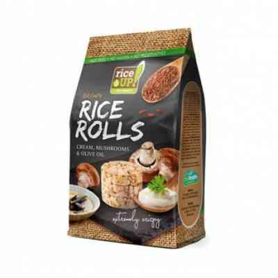 Rýžové minichlebíčky houby, smetana, olivový olej Rice Up