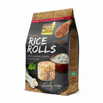 Rýžové minichlebíčky smetana, cibule, olivový olej Rice Up
