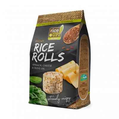 Rýžové minichlebíčky špenát, sýr, olivový olej Rice Up