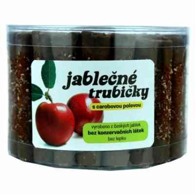 Jablečné trubičky s carobovou polevou