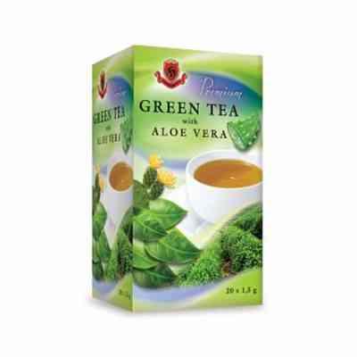 Zelený čaj s aloe vera
