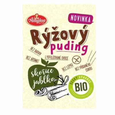 Puding rýžový s jablkem a skořicí BIO