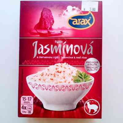 Rýže jasmínová s červenou rýži - varné sáčky 4 x 120 g