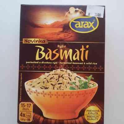 Rýže Basmati parboiled s divokou rýží - varné sáčky 4 x 120g