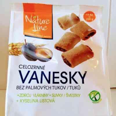 Vanesky - celozrnné sušenky se švestkami a fruktózou