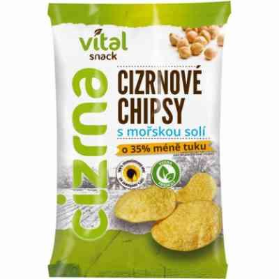 Chipsy cizrnové s mořskou solí