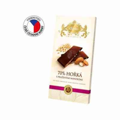 Hořká čokoláda s praženými mandlemi