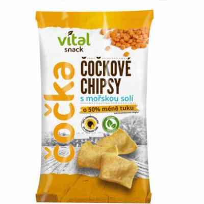 Chipsy čočkové s mořskou solí