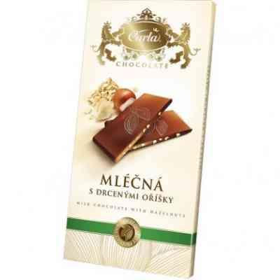 Mléčná čokoláda s lískovými oříšky