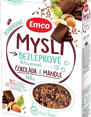 Mysli Pohankové - Čokoláda a mandle 340g (bezlepkové)